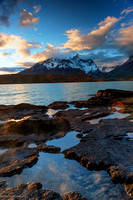 Sunset; Torres del Paine, Chile