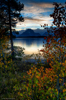 Jackson Lake sunset; Grand Teton National Park