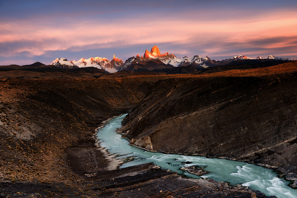 Sunrise Over Mt. Fitz Roy; Patagonia, Argentina