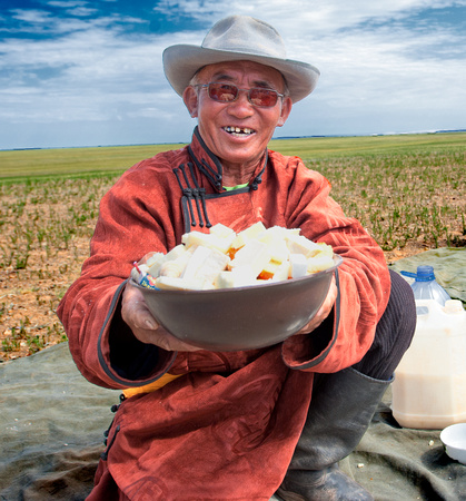 Mares milk cheese; Mongolia