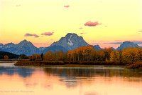 Sunset Over Oxbow Bend; Grand Teton National Park